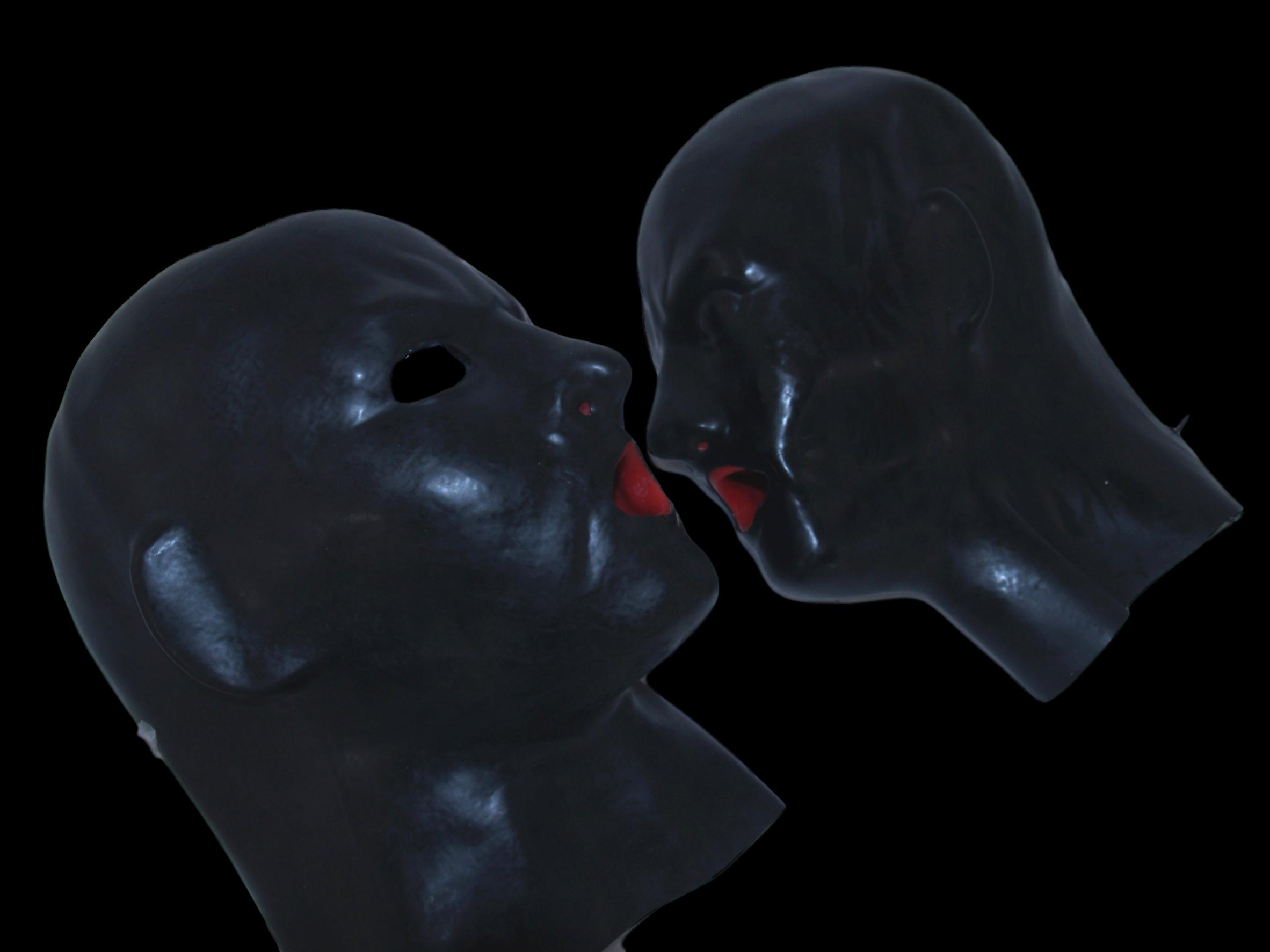 Anatomische Latexmaske mit Mundauskleidung - Fetishuniverse