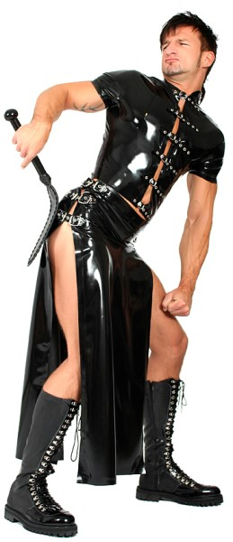 Herren Latex Flap Skirt