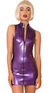Latex Polo Dress Purple
